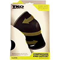 TKO Compression Knee Support, (KG006) One Size Fits Most (14- 16) Inch
