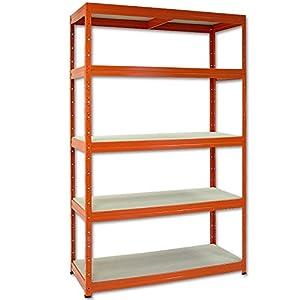 Steckregal LUANA 250OF  Kellerregal mit 5 Böden  120 cm breit  orange  BaumarktKritiken und weitere Informationen