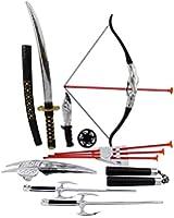 Ninja Warrior Bow & Arrow Archery Set for Kids with Katana Sword and Toy Weapons