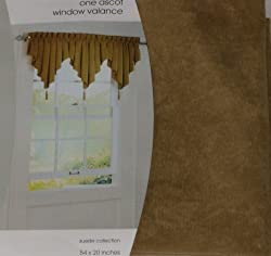 Home Suede Collection Ascot Window Valance Gold Curtain Topper