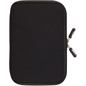 NeoSkin Kindle Fire Zip Sleeve, Black (Fits Kindle Fire and Kindle Keyboard, Neoprene Kindle Fire Cover, Kindle Fire Case)