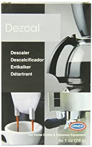 Urnex Dezcal Home Activated Descaler, For Home Coffee & Espresso Equipt., 4 - 1 oz Packets by Urnex