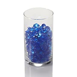 Eastland® Blue Acrylic Diamond Gem Vase Fillers Table Confetti for Weddings and More (12 Container Bulk)