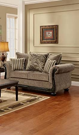 Chelsea Home Furniture Lily Loveseat, Upholstered in Dream Java