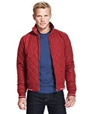 Blue Harbour Water Resistant Quilted Bomber Jacket