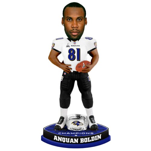 Anquan Boldin Baltimore Ravens Super Bowl XLVII Champions Ring Bobblehead at Amazon.com