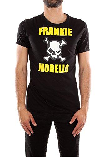 T-Shirt Frankie Morello Uomo Cotone Nero, Giallo e Bianco T34MJ282000 Nero XXL