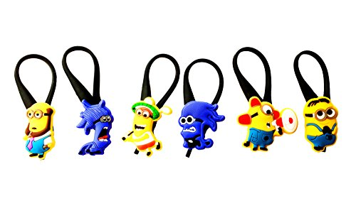 AVIRGO 6 pcs Soft Zipper Pull Charms for Backpack Bag Pendant Jacket Set # 32-3