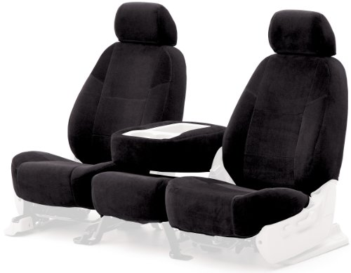 Coverking Custom Fit Front 50/50 Bucket Seat Cover For Select Acura Tl Models - Velour (Black) front-1060038