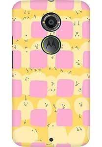 AMEZ designer printed 3d premium high quality back case cover for Moto X 2nd Gen. (cute)