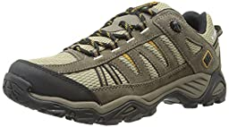 Columbia Men\'s North Plains Waterproof Trail Shoe, Verdant/Caramel, 9.5 D US