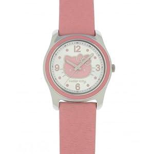 Hello Kitty 4401402 - Reloj para niños de cuarzo, correa de piel color rosa