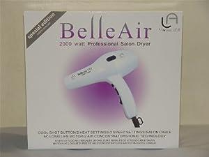 Le Angelique BellAir White 2000w Hair Dryer AC motor + 2 Air Nozzles + Royale Shampoo