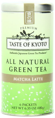 Taste Of Kyoto Matcha Latte Green Tea, Premium, 6 Count