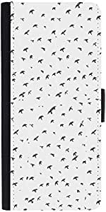 Snoogg Fly Sky Graphic Snap On Hard Back Leather + Pc Flip Cover Samsung Gala...