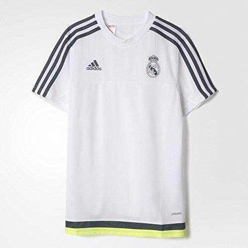 Adidas Real Madrid CF Training Youth Jersey-WHITE (M) (Adidas Real Madrid Cf compare prices)