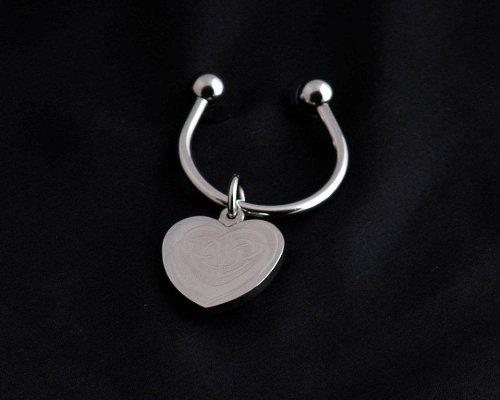 Key Ring in Celtic Heart Design. Celtic Glass