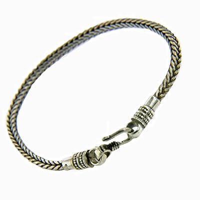 Amazon.com: Franki Baker Men's Sterling Silver Snake Chain Bracelet