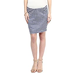 MamaCouture Blue Polyester Skirt for Women