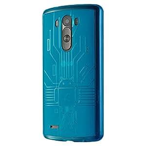 Cruzerlite LG G3 Case. Bugdroid Circuit AnDroid Design Slim Look TPU Case for LG G3 - Teal
