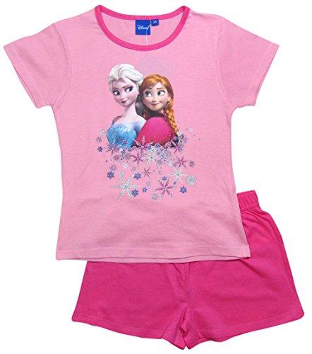 Frozen Pyjama Die Eiskönigin 2016 Kollektion 98 104 110 116 122 128 Schlafanzug Shortie Shorty Anna und Elsa Rosa-Darkrosa (98 - 104, Rosa-Darkrosa)