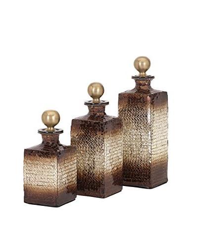 Set of 3 Kamrin Mosaic Bottles, Multi As You See