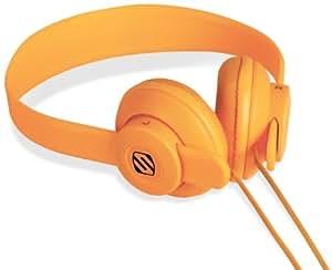 SCOSCHE SHP400-OR lobeDOPE On-Ear Headphones - Retail Packaging - Orange
