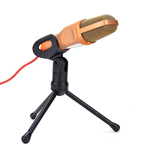 M Y Fly Young Professional Sound Condenser Microphone With Stand for PC Laptop Skype Recording Orange (Condenser Microphone Orange compare prices)