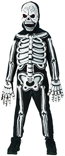 Rubies Glow in The Dark Skeleton Child Costume,