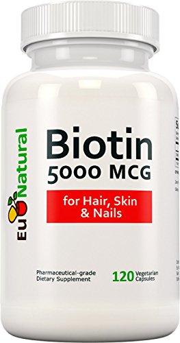 Biotin 5000 mcg, 120 Vegetarian Capsules