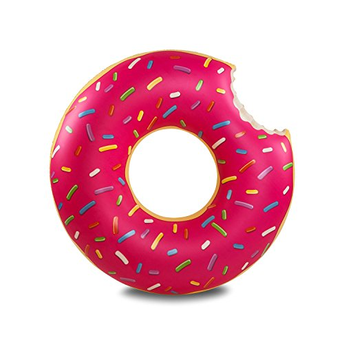 DalosDream Gigantic Donut Pool Float, Strawberry