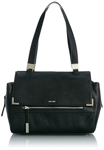 Nine West Scale Up Satchel Top Handle Bag, Black Black, One Size