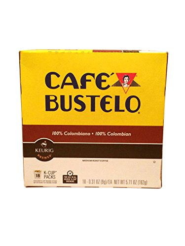 Keurig Cafe Bustelo Coffee 100% Colombian K-Cups Cuban Colombiano (Colombian K Cups compare prices)