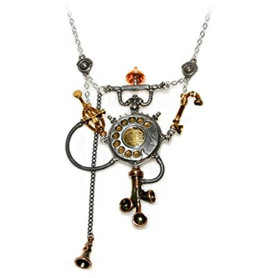 Bell Telegraph Candlestick Aigleterre Alchemy Gothic Necklace