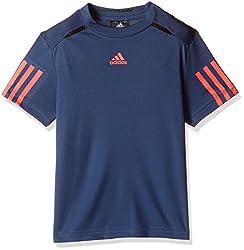 adidas Boys' T-Shirt (AX9618_Tech Ink F16 and Black_7 - 8 years)