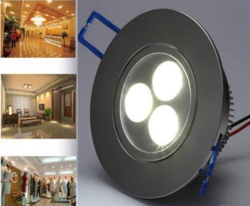 Siga@10Pieces 3W White Power Led Recessed Ceiling Down Bulb Spot Light Lamp 85V-220V