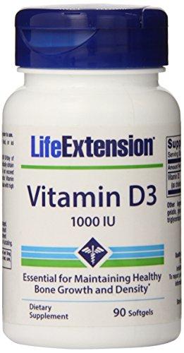 Life Extension Vitamin D3 1000 Iu Softgels, 90 Count