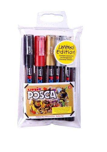 uni-posca-pc1m-lot-de-5-marqueur-pointe-extra-fine-couleurs-assorties-import-royaume-uni