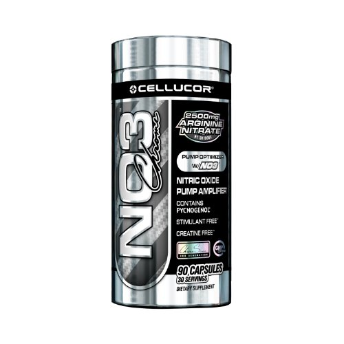 Cellucor No3 Chrome Nitric Oxide Supplement, 90 Count