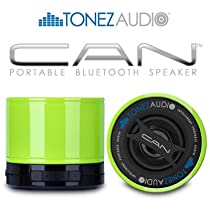 Tonez Audio Corp. CAN Portable Bluetooth Speaker/Speakerphone (Jaded Lime)