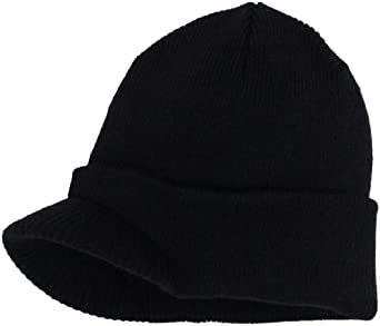 Isotoner Men's Acrylic Billed Hat, Black, One Size