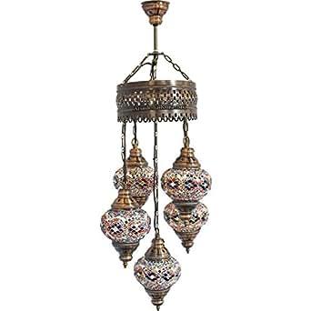 Chandelier Ceiling Lights Turkish Lamps Hanging Mosaic Lights Pendant Mu