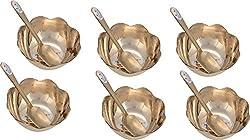 RajRajvi Kansa Dessert Bowl (RR24A22, 100 ml, Kansa, Set of 12)