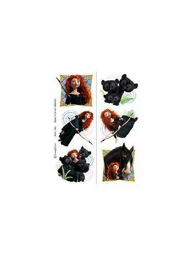 Hallmark Unisex Adult Disney Brave Tattoo Sheets Black Medium - 1