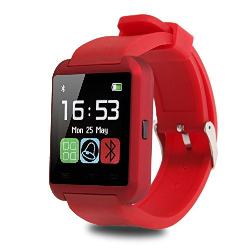 Padgene Padgene Bluetooth 4.0 Smart Watch Bracelet for Samsung S5 / Note 2 / 3 / 4, Nexus 6, HTC, Sony and Other Android Smartphones, Red