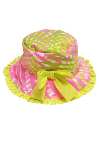 Kate Mack - Palm Beach Infant & Toddler Palm Tree Print Poplin Hat In Coral - 9 -12 Months front-204919