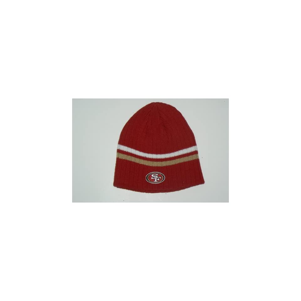 NFL San Francisco 49ers Striped Knit Beanie Hat Ski Skull Cap Lid Toque