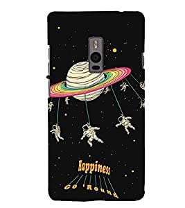 Astronauts in space 3D Hard Polycarbonate Designer Back Case Cover for OnePlus 2 :: OnePlus Two