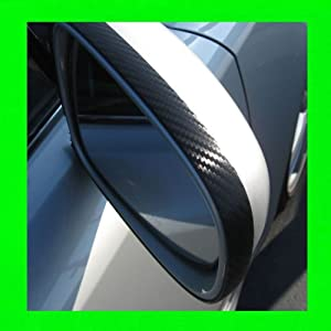 1990-1994 PLYMOUTH LASER CARBON FIBER MIRROR TRIM MOLDINGS 2PC 1991 1992 1993 90 91 92 93 94
