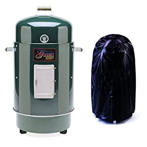 Gourmet Charcoal Smoker Grill With Vinyl Cover from On The BarB